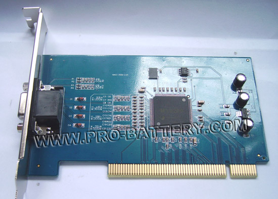 4 CHANNEL Video 2CH Audio Input CCTV SURVEILLANCE REAL TIME H.264 COMPRESSION DVR PCI CARD