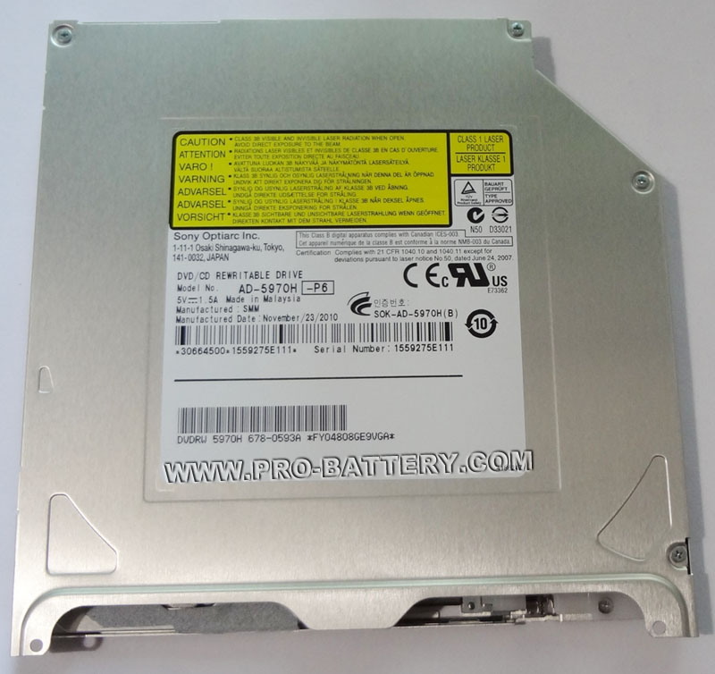 Apple Superdrive Sony AD-5970H DVDRW Drive Replace AD-5960S Update Version