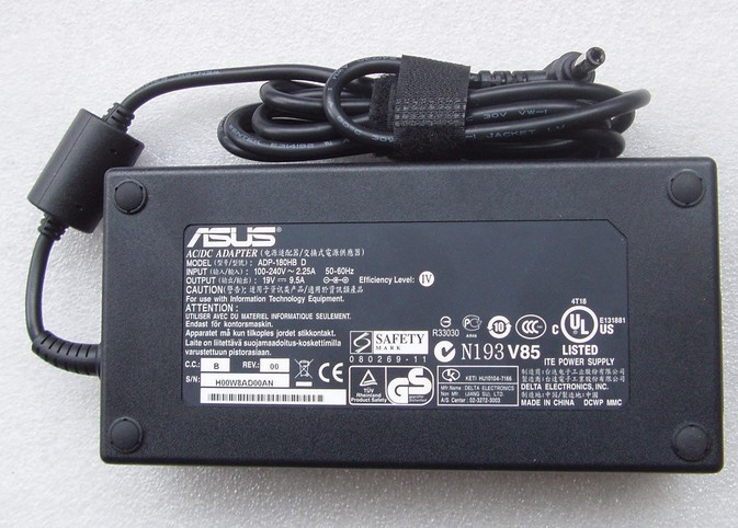180W Genuine Asus G750JW-BBI7N05 Laptop AC Adapter Power Supply Charger 19V 9.5A