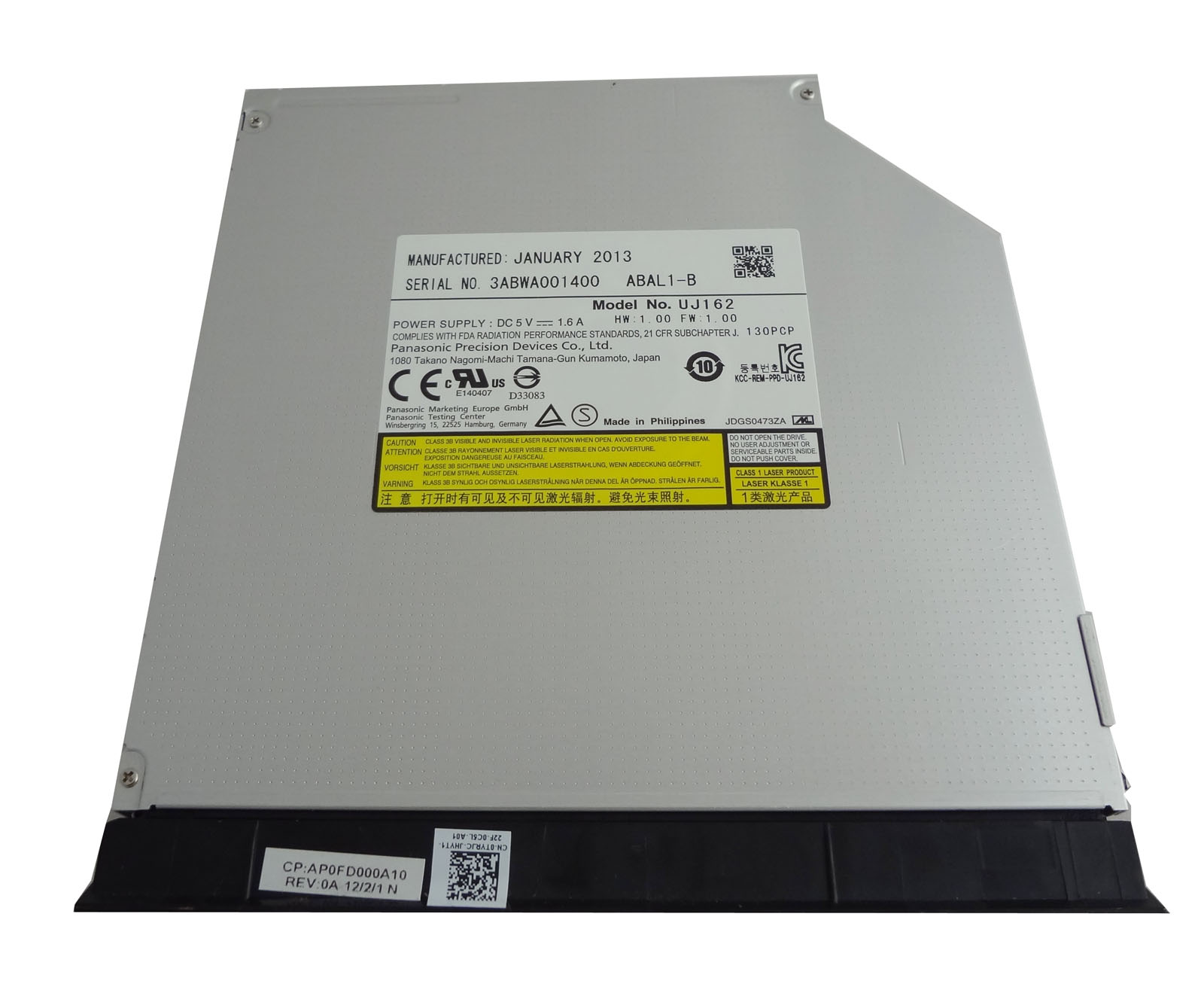 With Ejector Blu-ray BD-ROM/DVDRW Combo Drive For Dell Latitude E6520 E6530