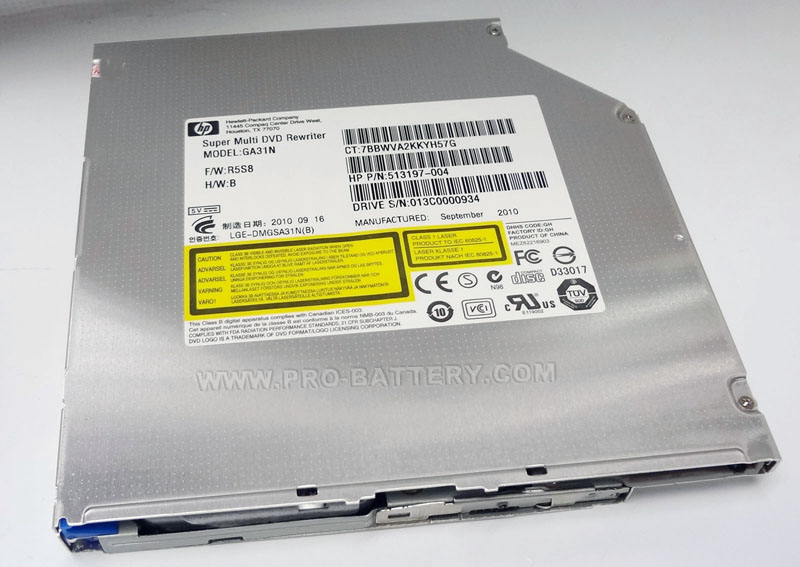 HP Touchsmart 520-1047c All-in-One PC DVD RW Burner Drive HP GA31N