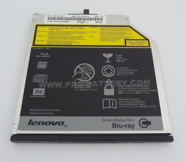 Genuine IBM Lenovo Thinkpad T400 T410 T500 Bluray BD-RE DVDRW Burner Drive Writer