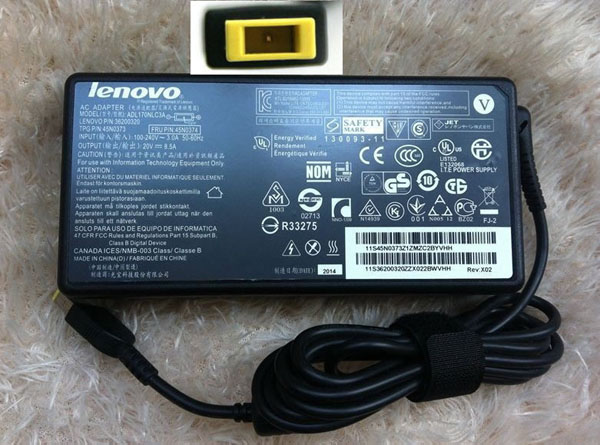 Original 170W 20V AC Power Adapter Charger for Lenovo ThinkPad W540 Workstation