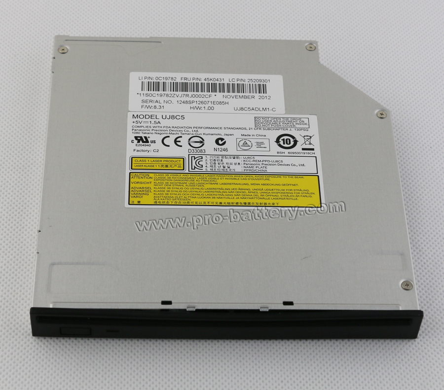 Panasonic UJ8C5 Slot-In CD/DVD Burner Drive for Dell Studio Desktop 1909