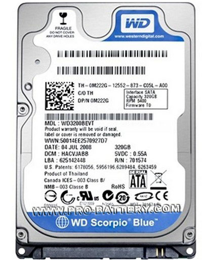 Western Digital WD 320GB Laptop SATA2 2.5-in Internal Hard Drive 2.5""