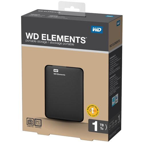 WD Western Digital Elements 1 TB USB 3.0 External Portable Hard Drive 1TB