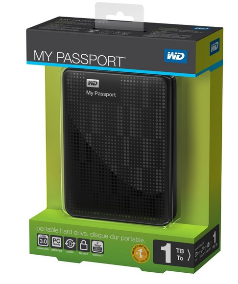 WD Western Digital My Passport 1TB External 3.0 Hard Drive HDD Black
