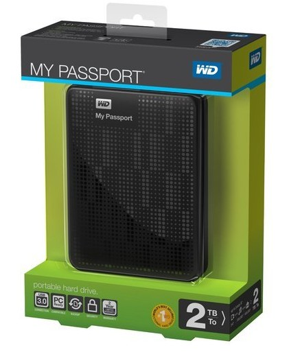 WESTERN DIGITAL My Passport Portable Hard Drive 2TB 2000GB USB 3.0
