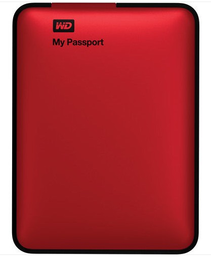 Western Digital My Passport Portable Hard Drive 2TB 2000GB USB 3.0 Red