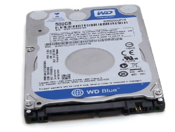 Western Digital Blue HDD WD5000LPVX 500GB 5400RPM SATA 6.0 GB/s laptop Hard Disk Drive