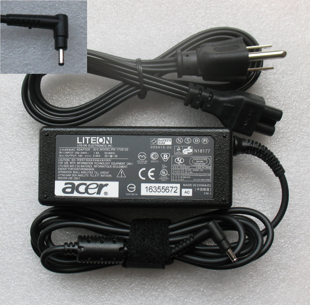 OEM 65W AC Power Adapter Charger for Acer Aspire S7-391-53314G12aws 19V 3.42A