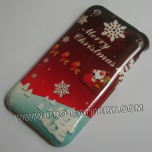 Christmas Snow Plastic Faceplate Hard Case For Apple iPhone 3G 3GS