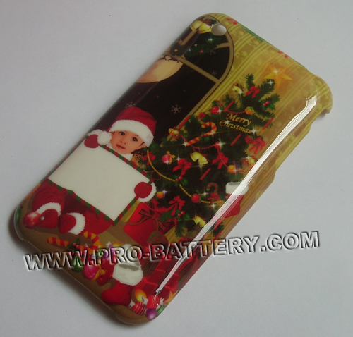 Christmas Xmas Boy Plastic Faceplate Hard Case For Apple iPhone 3GS