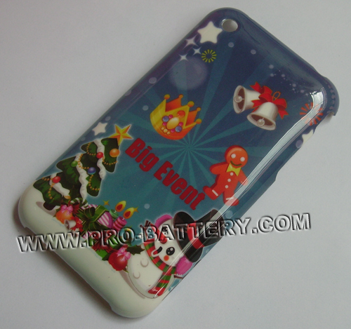 Christmas Bell Plastic Faceplate Hard Case For Apple iPhone 3GS 3G