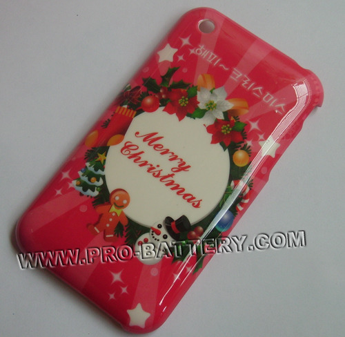 Christmas Xmas Snowman Plastic Faceplate Hard Case For Apple iPhone 3GS 3G