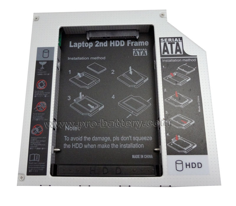 2nd SATA Hard Drive HDD/SSD Caddy for HP ZBook 15 G2 Workstation